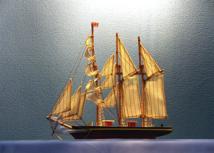 Ship Greeting Card featuring the photograph Old Sailing Ship by Hugh Kroetsch