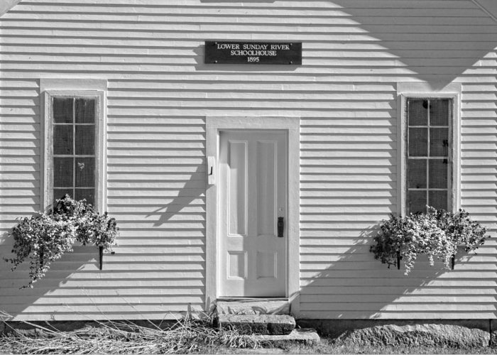One Room School Houses Digital Art Greeting Cards