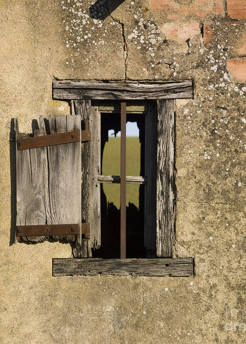 Window Greeting Card featuring the photograph Old Shack by Bernard Jaubert