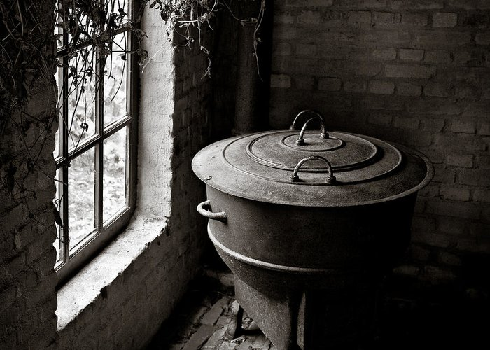 Old Greeting Card featuring the photograph Old Stove by Dave Bowman