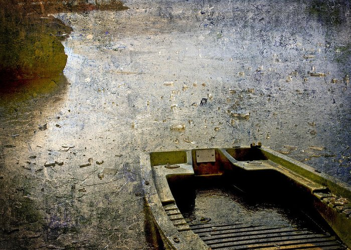 Bail Out Greeting Card featuring the photograph Old Sunken Boat. by Bernard Jaubert