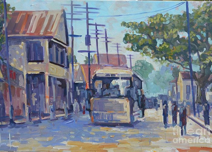 Greeting Card featuring the painting Old Time Kingston Series by Jeffrey Samuels