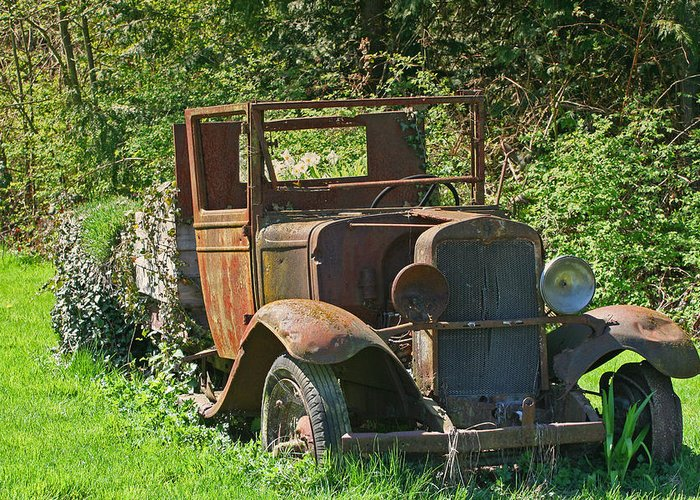 Old Truck Greeting Card featuring the photograph Old Truck II C1002 by Mary Gaines