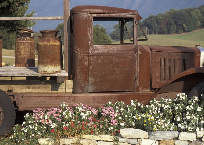 Tennessee Greeting Card featuring the photograph Old Truck In Tennessee by Stan and Anne Foster