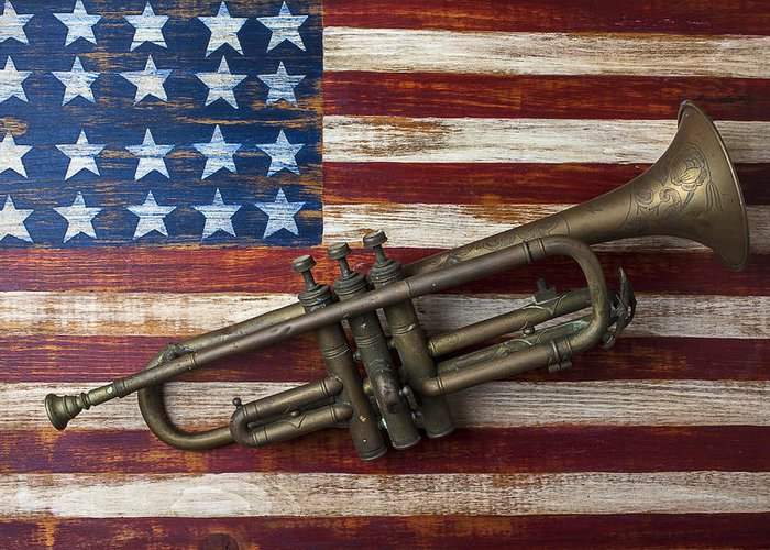 Blues Trumpet Greeting Cards