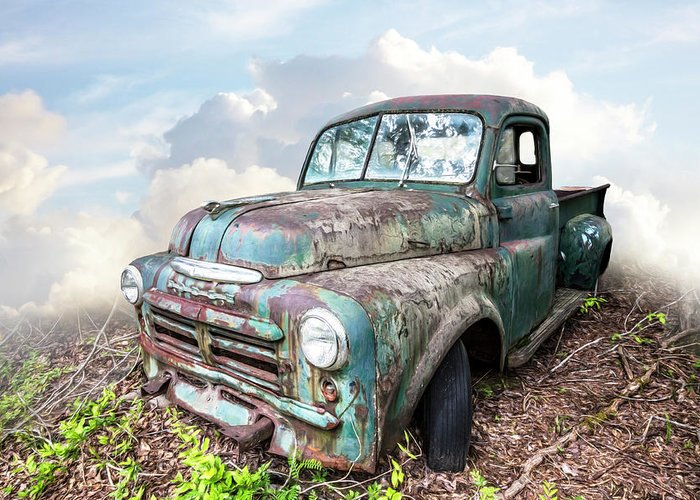 Old Dodge Trucks >> Old Vintage Dodge Truck Painting Greeting Card For Sale By Debra And
