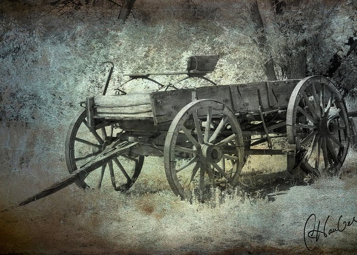 Wagon Greeting Card featuring the photograph Old Wagon by Christine Hauber