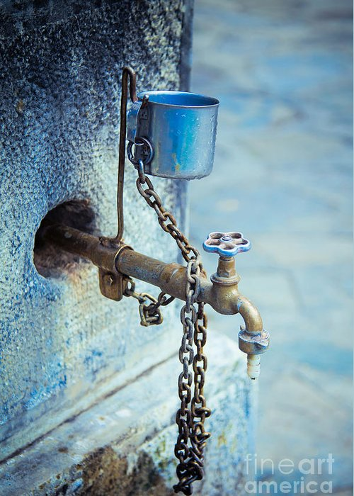 Water Tap Greeting Card featuring the photograph Old Water Tap by Gabriela Insuratelu