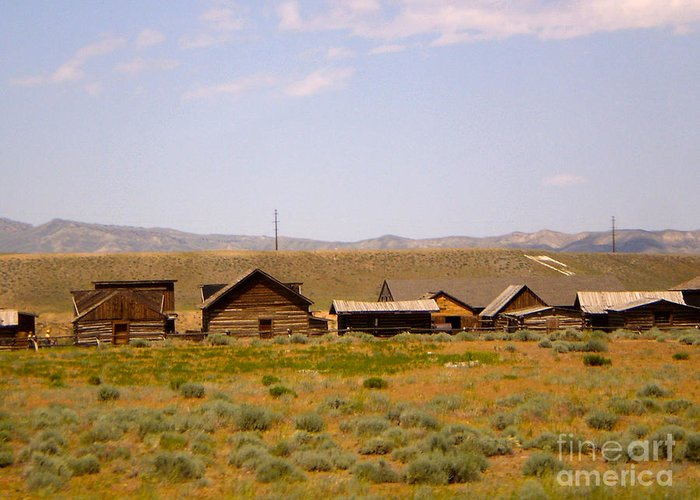 Montana Greeting Card featuring the photograph Old West by Chad Kroll