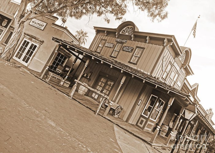 Barrel Greeting Card featuring the photograph Old Western Town by Korynn Neil