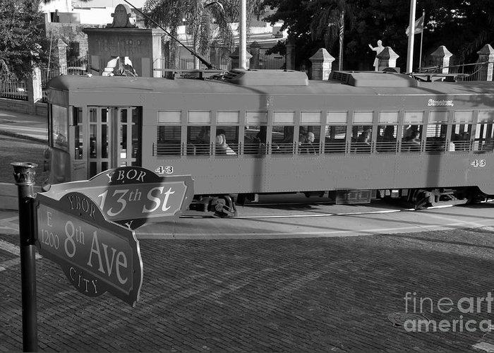 Ybor City Florida Greeting Card featuring the photograph Old Ybor City Trolley by David Lee Thompson