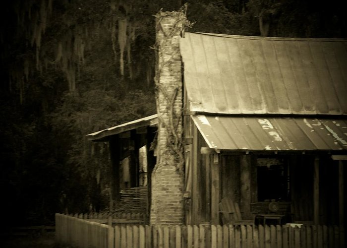 Marsh Greeting Card featuring the photograph Ole Marsh Homestead by Sheri McLeroy