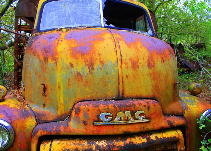 Rusty Greeting Card featuring the photograph Ole Rusty Full Frontal by Dana Blalock