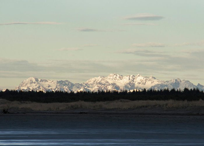 Olympic Mountains Greeting Card featuring the photograph Olympic Mountains by Cheryl Day