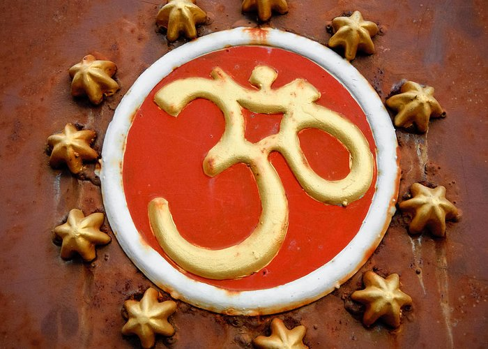 Om Greeting Card featuring the photograph Om by Dev Gogoi