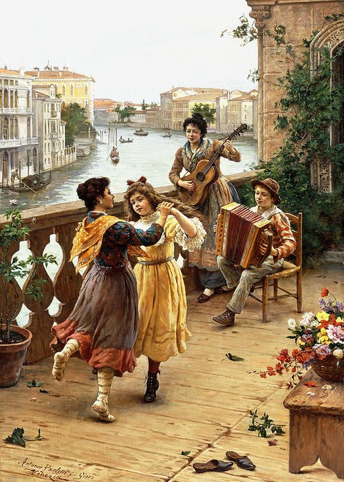 Venetian Balcony Greeting Cards