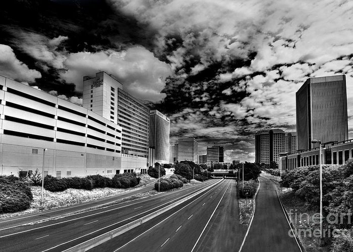 Downtown Greeting Card featuring the photograph On The Expressway by Tim Wilson
