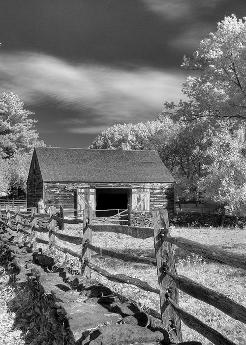 Old Mill Greeting Card featuring the photograph On The Farm by Joann Vitali