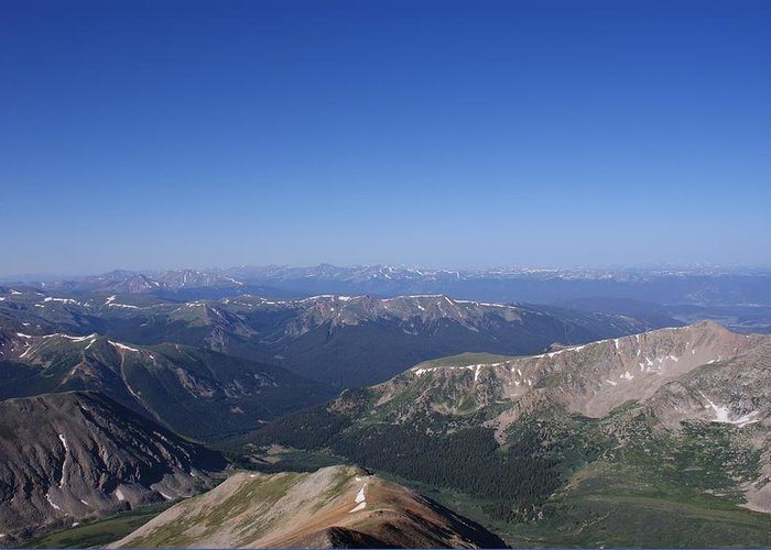 Mountains Greeting Card featuring the photograph On Top Of The World by Brian Anderson
