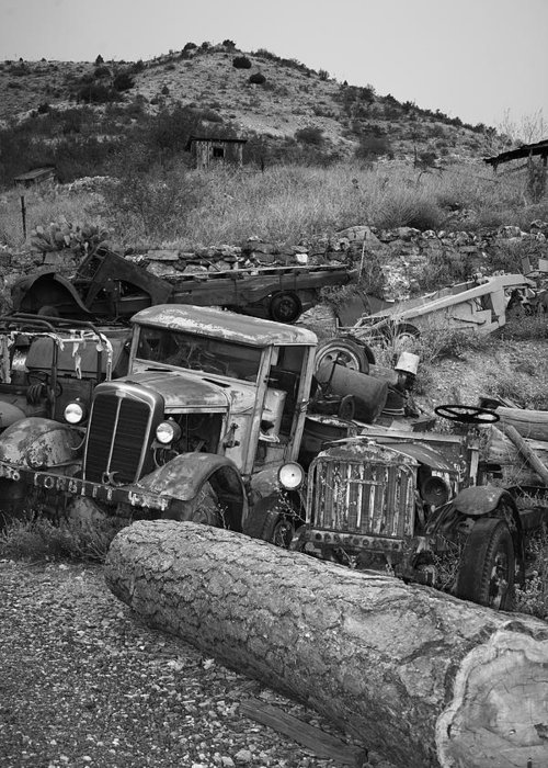 Greeting Card featuring the photograph One Man's Junk by Rich Tanguay