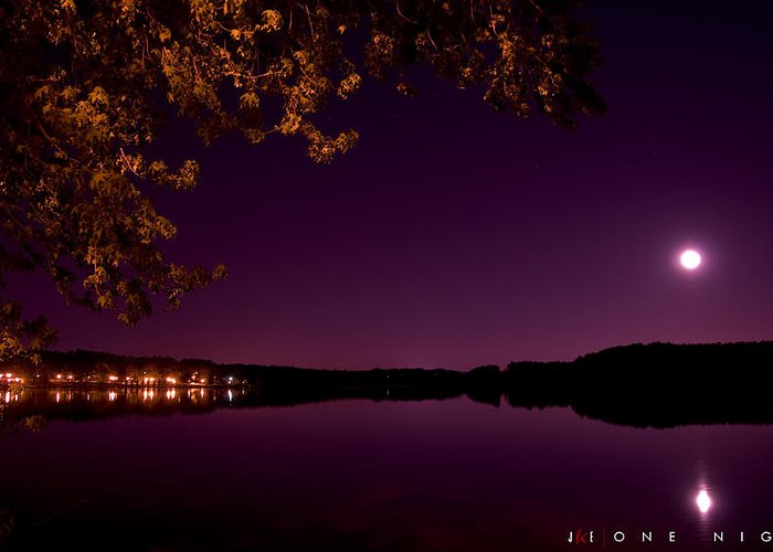 Lake Greeting Card featuring the photograph One Night by Jonathan Ellis Keys