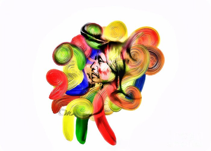 Heart Greeting Card featuring the digital art One Part 3 by Mo T