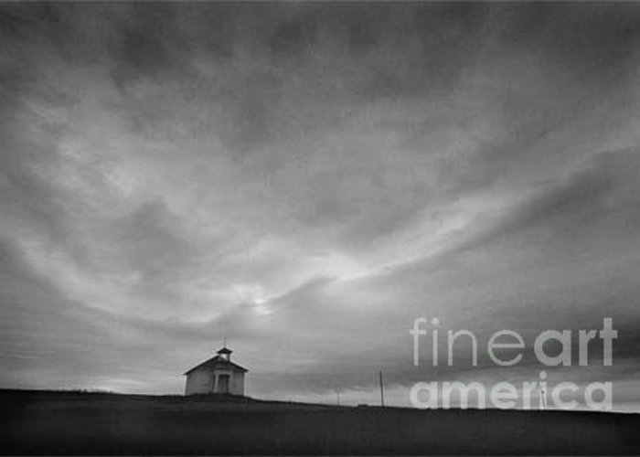 Landscape Greeting Card featuring the photograph One Room Schoolhouse by Michael Ziegler