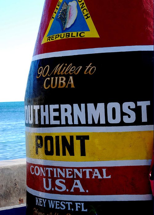Photography Greeting Card featuring the photograph Only 90 Miles To Cuba by Susanne Van Hulst