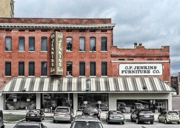 Knoxville Greeting Card featuring the photograph Op Jenkins Sign by Sharon Popek