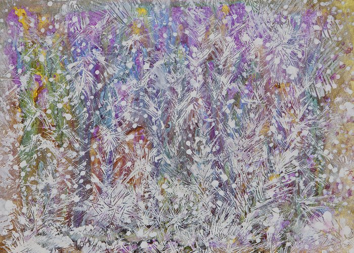 Acrylic Paint Greeting Card featuring the painting Opalescent by Don Wright