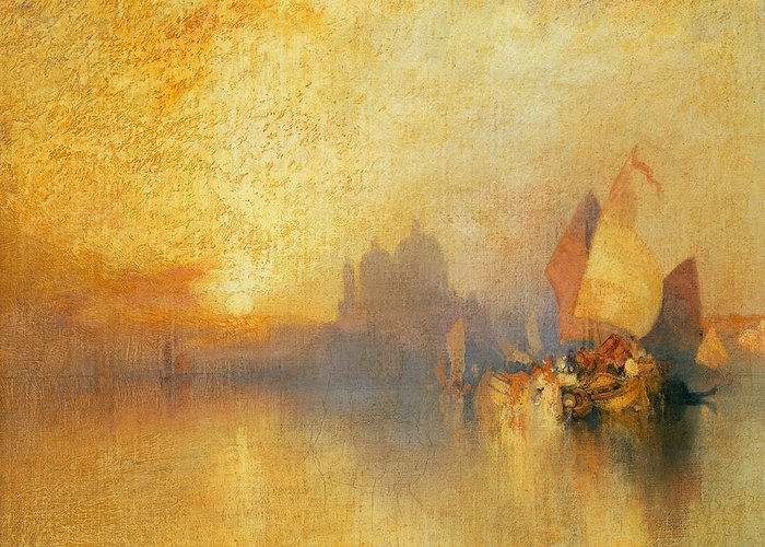 Thomas Moran Greeting Card featuring the painting Opalescent Venice by Thomas Moran