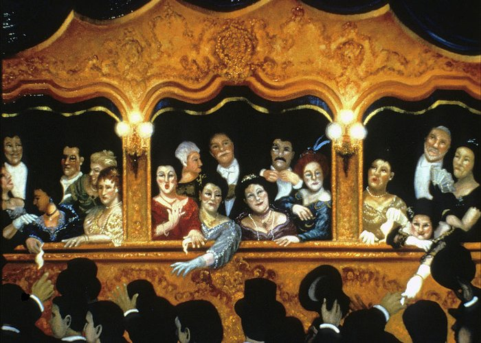 Opera Greeting Card featuring the painting Opening At La Fenice by Scott Jones