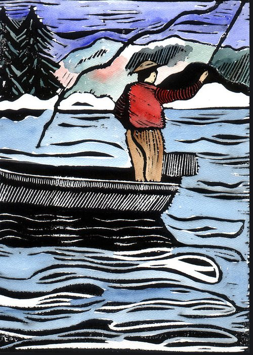 Fishing Greeting Card featuring the mixed media Opening Day by Jane Croteau