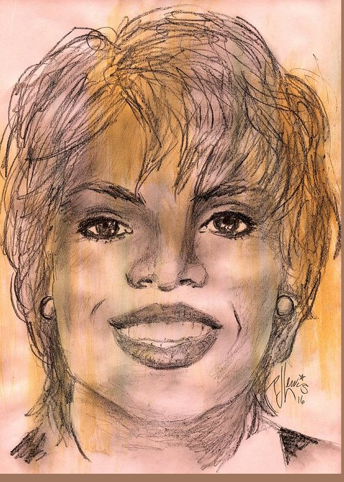 Famous African-americans Drawings Greeting Cards
