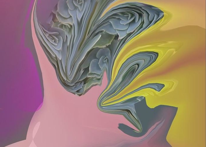 Abstract Greeting Card featuring the digital art Optimism Closeup 2 by Peter Shor