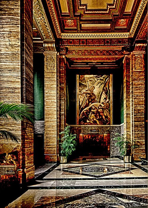 Greeting Card featuring the photograph Opulent Lobby Sce by Joseph Hollingsworth