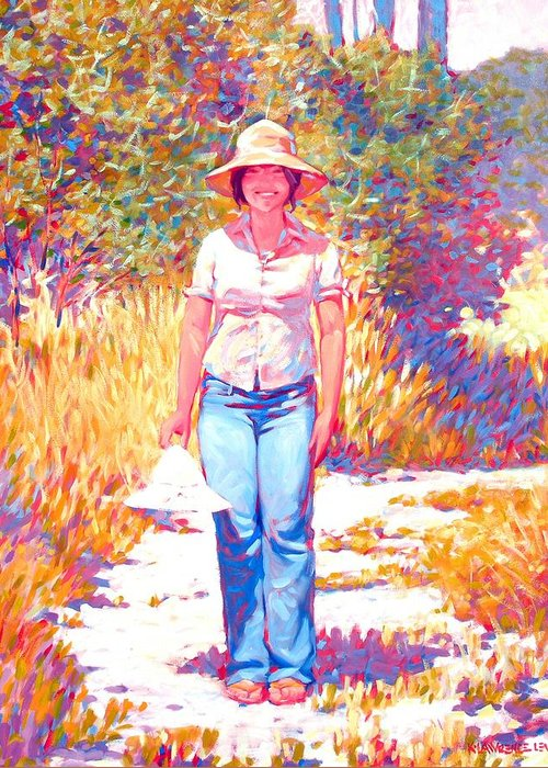 Portrait Greeting Card featuring the painting Or This One by Kevin Lawrence Leveque
