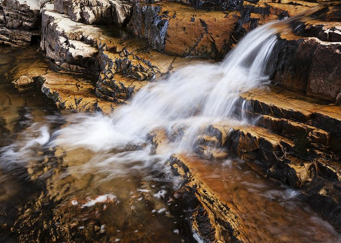 Orange Falls Greeting Card featuring the photograph Orange Falls by Chad Dutson