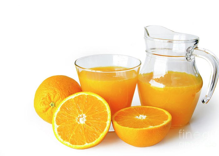 Agriculture Greeting Card featuring the photograph Orange Juice by Carlos Caetano