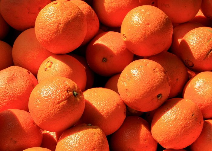 Orange Greeting Card featuring the photograph Oranges by David Dunham