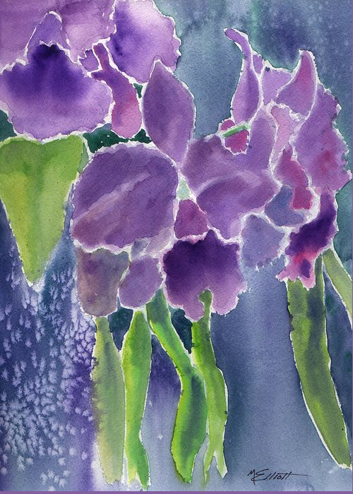 Orchids Greeting Card featuring the painting Orchid Rain by Marsha Elliott