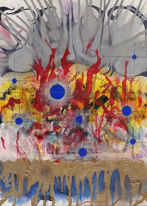 Chaos Greeting Card featuring the painting Order In Chaos by Nathaniel Hoffman