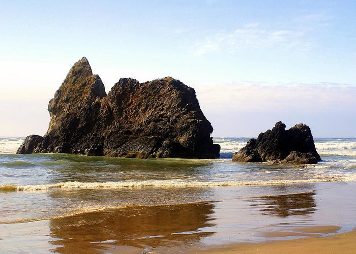 Ocean Greeting Card featuring the photograph Oregon Coast 10 by Marty Koch