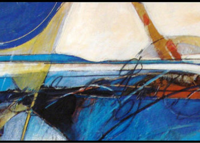Abstract Greeting Card featuring the painting Oregon Coast by Dale Witherow