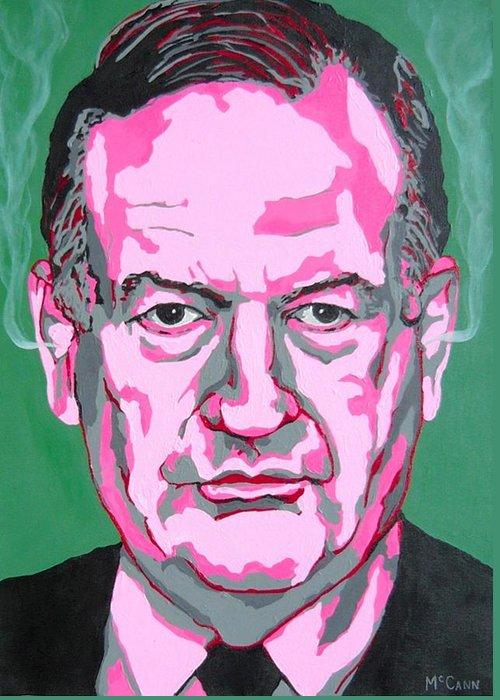 Politics Greeting Card featuring the painting Oreilly by Dennis McCann