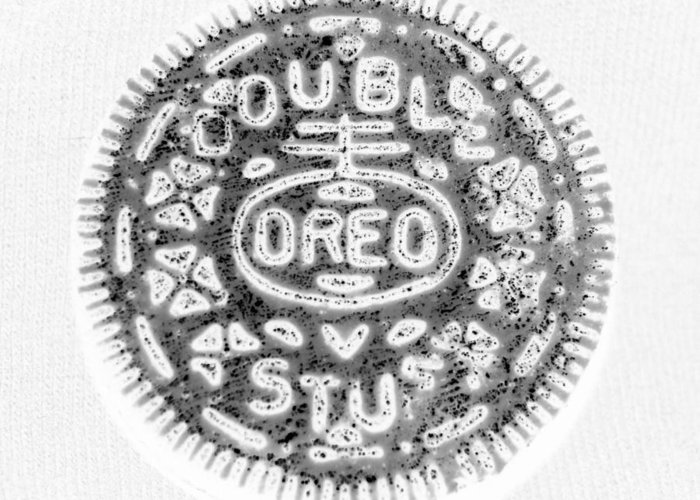 Oreo Greeting Card featuring the photograph Oreo In Negetive by Rob Hans