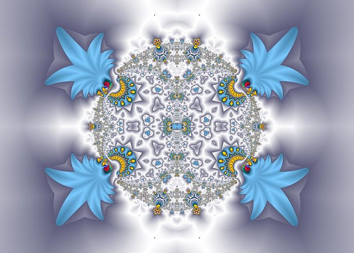 Fractals Greeting Card featuring the photograph Organic Fractal by Gregory Pirillo