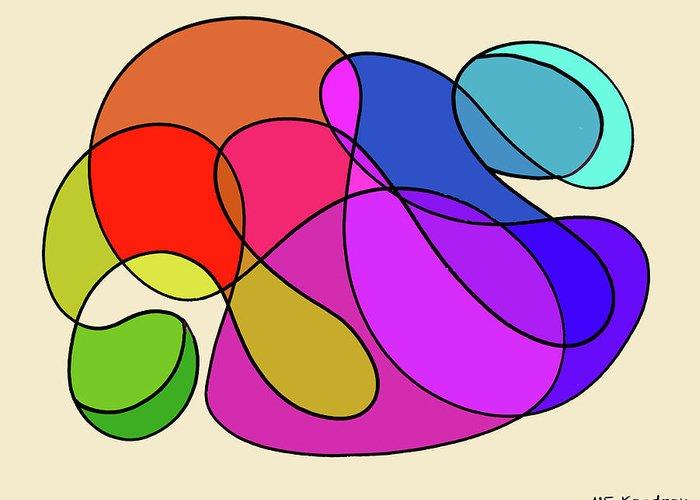 Modern Greeting Card featuring the digital art Organic Kaleidoscope by ME Kozdron