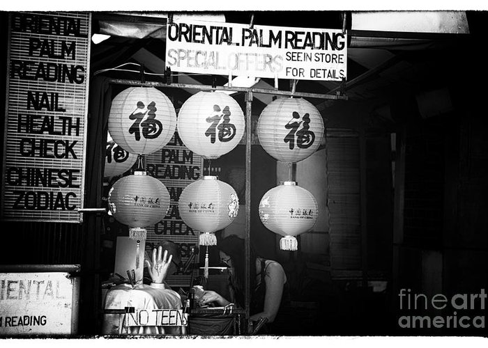Oriental Palm Reading Greeting Card featuring the photograph Oriental Palm Reading by John Rizzuto