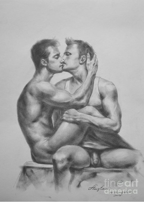 Erotic male art drawings